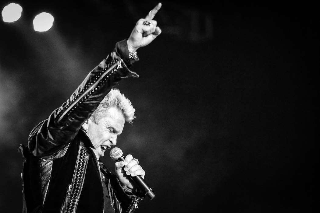 Billy Idol promises heightened production values for his new show at The Pearl. (Rob Fenn)
