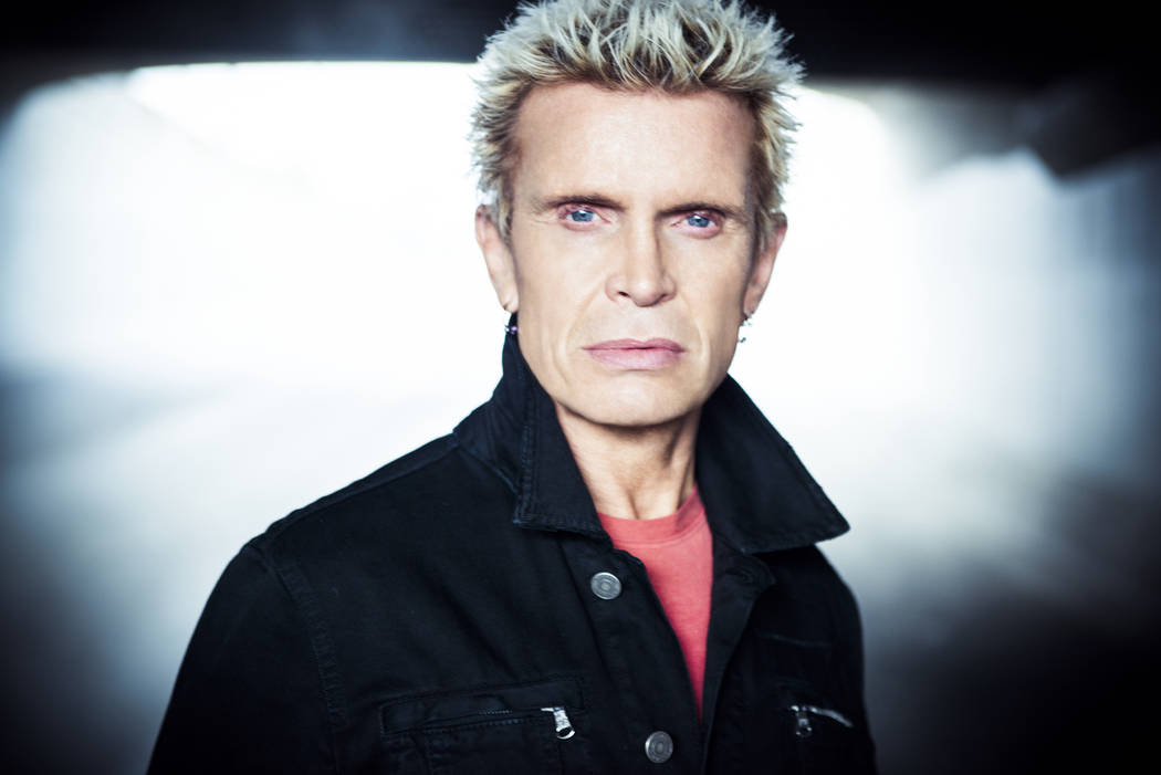 Billy Idol returns to Las Vegas for a new residency at the Palms after completing a lengthy engagement at the House of Blues in October 2017. (Rob Fenn)