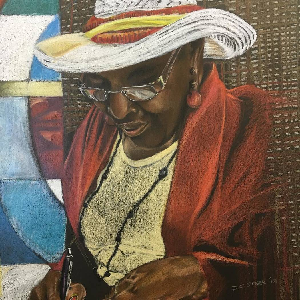 """""""Taking Notes"""" by Donald Corpier Starr -- Colored Pencils Priscilla Fowler Fine Art's show """"Gallery Stars!"""""""