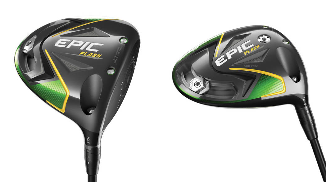 For the first known time, artificial intelligence was used to create a golf club: the Callaway Epic Flash drivers. Courtesy Callaway Golf.