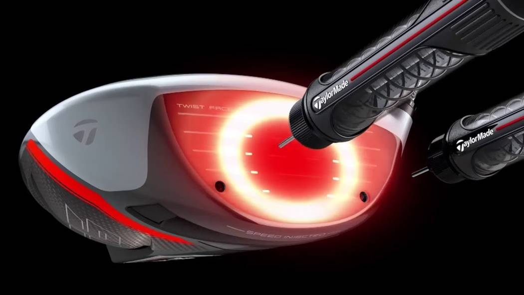 Tiger Woods will play TaylorMade's Injected Twist Face technology in 2019. Courtesy TaylorMade Golf.