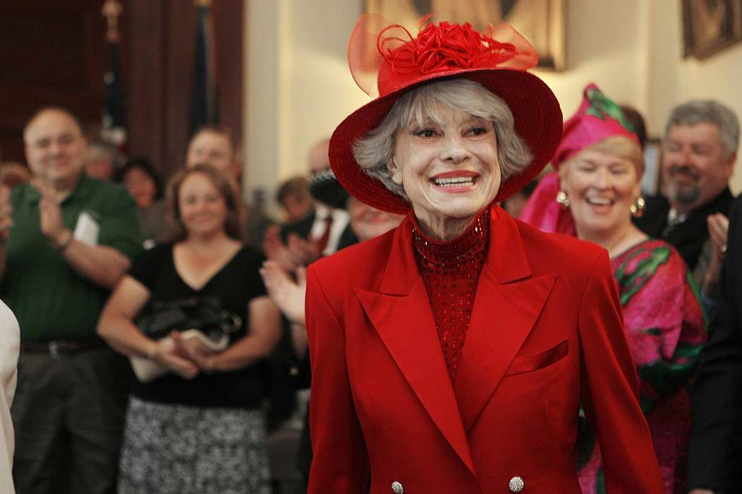 Singer and actress Carol Channing in Concord, N.H., June 27, 2007. Channing, whose career spanned decades on Broadway and on television has died at age 97. Publicist B. Harlan Boll says Channing ...