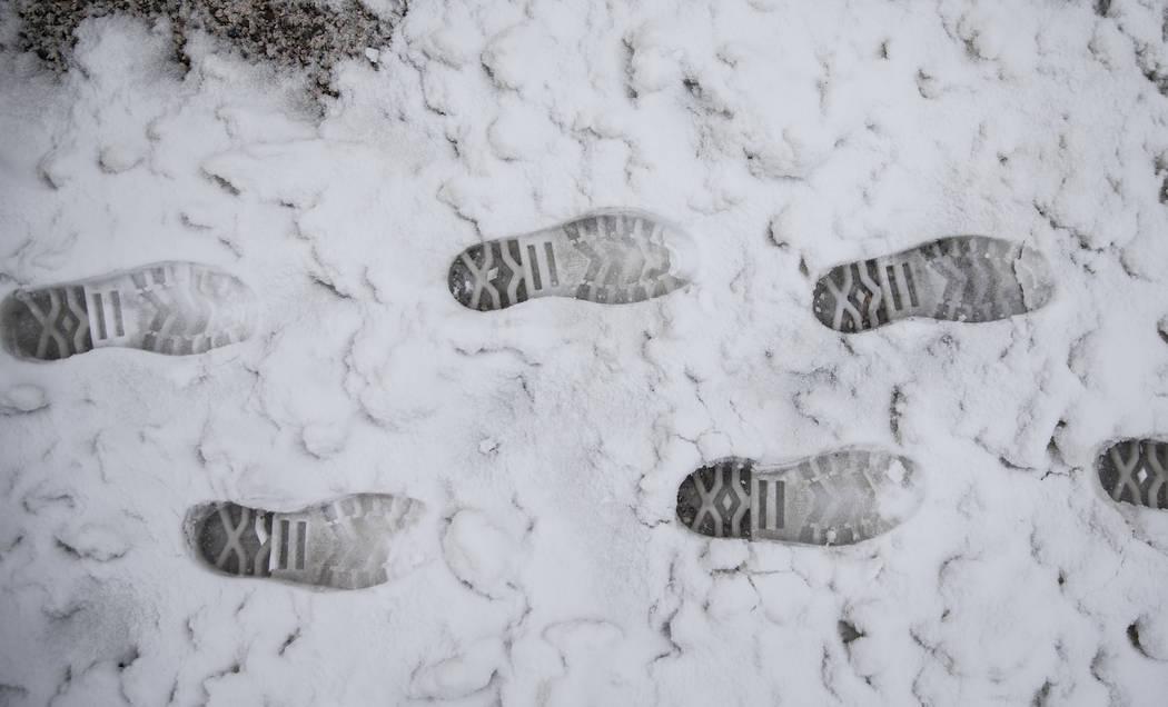 Heavy snowfall didn't keep hikers away from Mount Charleston on Tuesday, Jan. 15, 2019, in Las Vegas. Benjamin Hager Las Vegas Review-Journal