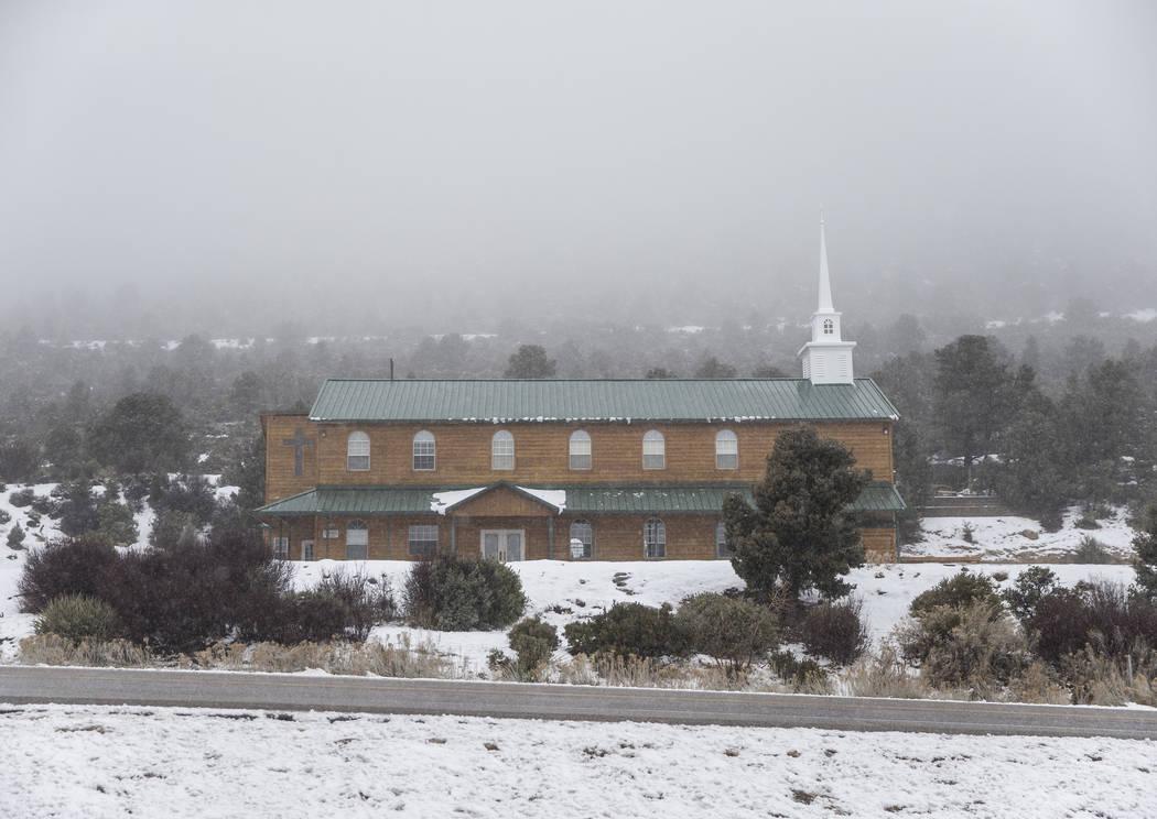 Fog rolls over Mt. Charleston Baptist Church on Tuesday, Jan. 15, 2019, at Mount Charleston, in Las Vegas. Benjamin Hager Las Vegas Review-Journal