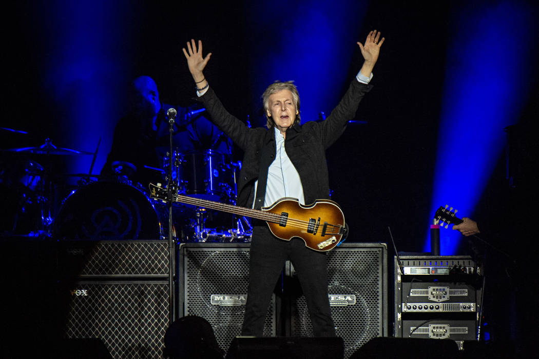 Paul McCartney performs on day one of the Austin City Limits Music Festival's second weekend on Oct. 12, 2018, in Austin, Texas. (Amy Harris/Invision/AP)