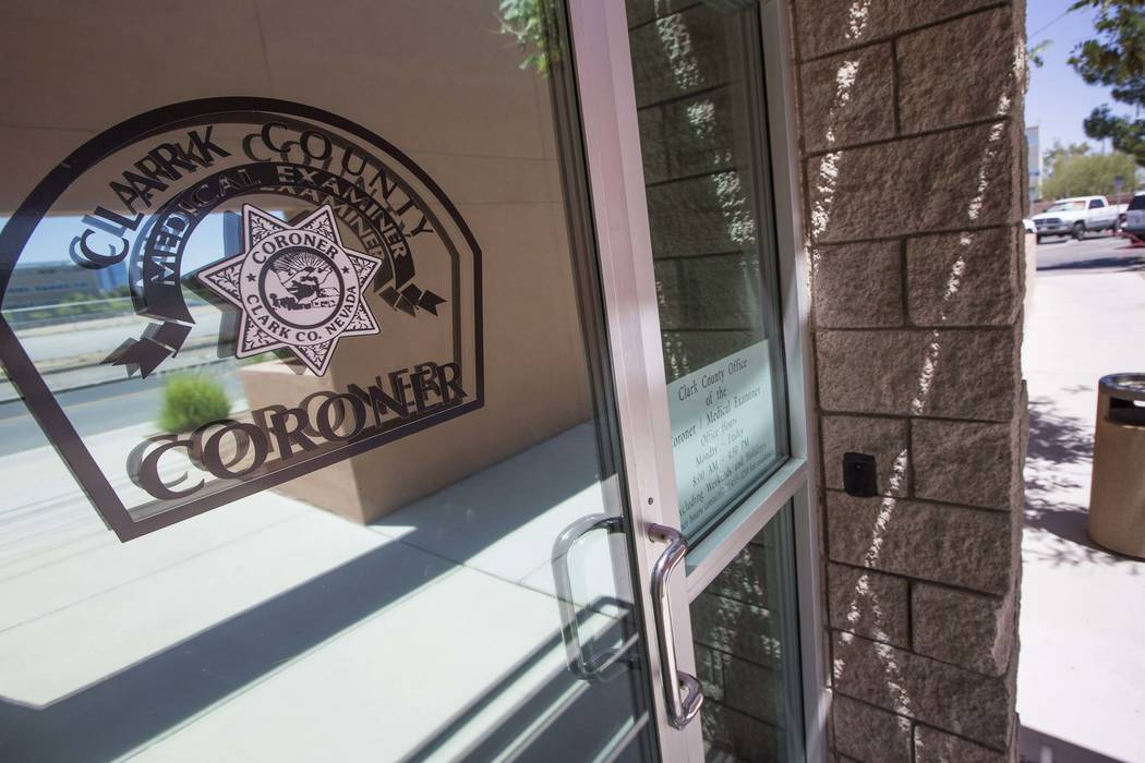 The Clark County Coroner. (Richard Brian/Las Vegas Review-Journal @vegasphotograph)
