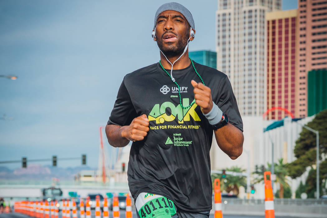 Michael Crome runs in the first Junior Achievement of Southern Nevada 4.01k Race for Financial Fitness in 2018. (Junior Achievement of Southern Nevada)