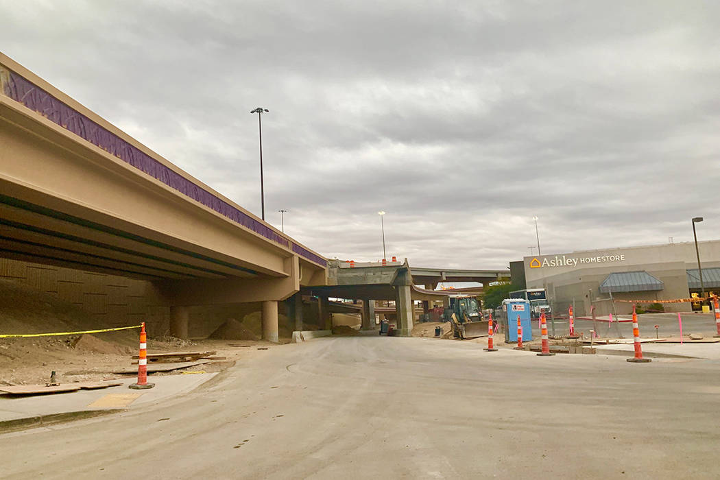 The Martin Luther King Boulevard onramps to I-15 northbound, I-15 southbound and to U.S. Highway 95 southbound are all slated to open at 6 a.m. Sunday. (Mick Akers/Las Vegas Review-Journal)