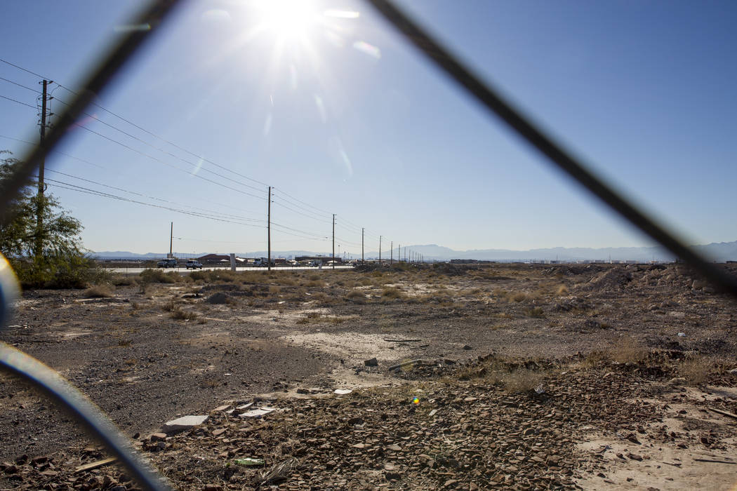 A 57-acre plot of land near the Las Vegas Motor Speedway, seen Tuesday, Jan. 23, 2018, was purchased by warehouse developer Prologis. Patrick Connolly Las Vegas Review-Journal @PConnPie
