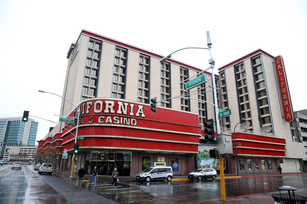 The California Hotel in downtown Las Vegas Tuesday, Jan. 15, 2019. K.M. Cannon Las Vegas Review-Journal @KMCannonPhoto