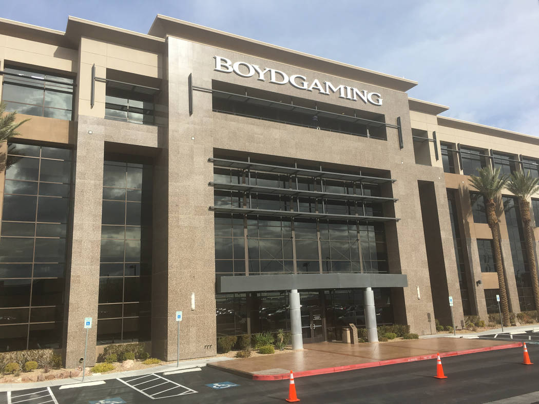 Casino operator Boyd Gaming Corp. filed plans to build two 10-story office buildings at the northeast corner of Buffalo Drive and Sunset Road in Las Vegas. Its current main office building, 6465 S ...