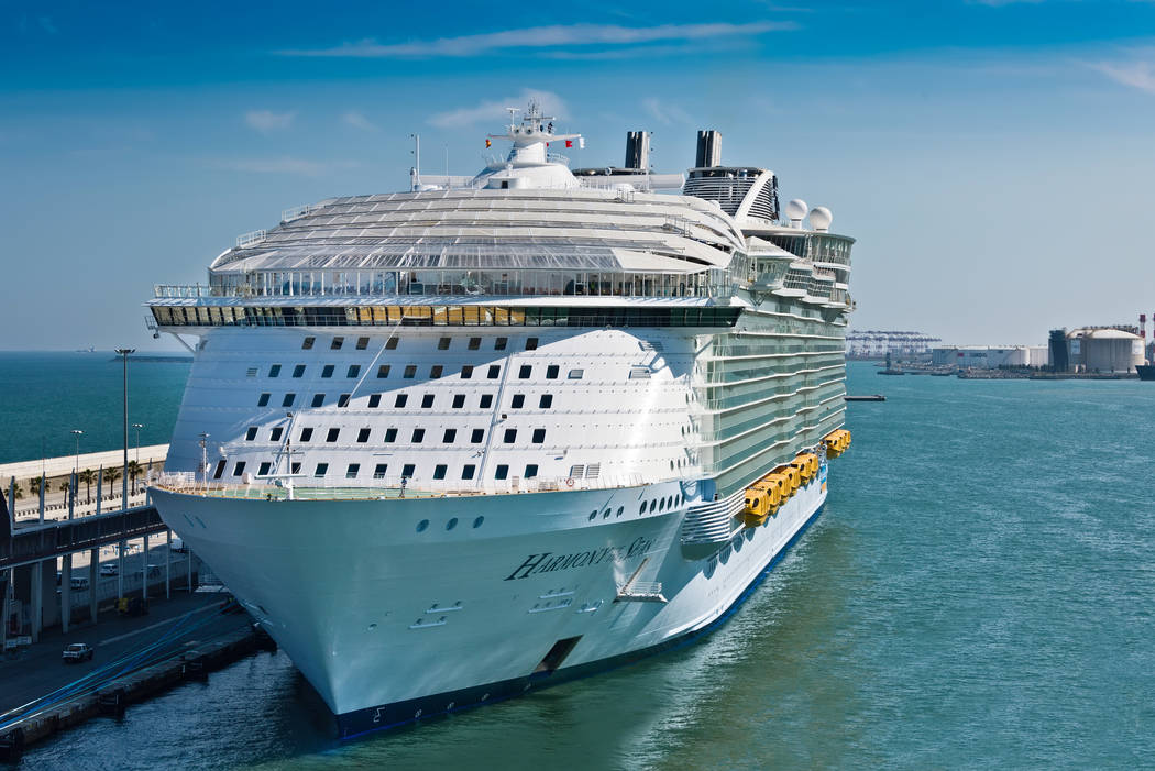 Royal Caribbean's, Harmony of the Seas, is now the largest ship in the world, with a gross tonnage of 226,963, Barcelona, Spain - June 7, 2016. (Getty Images)