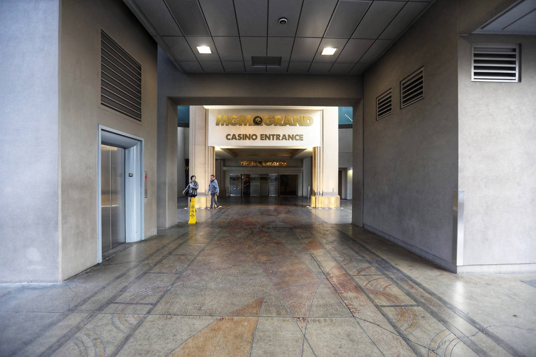 Las Vegas Strip entrance to Level Up at MGM Grand on Wednesday, Jan. 16, 2019. Todd Prince/Las Vegas Review-Journal