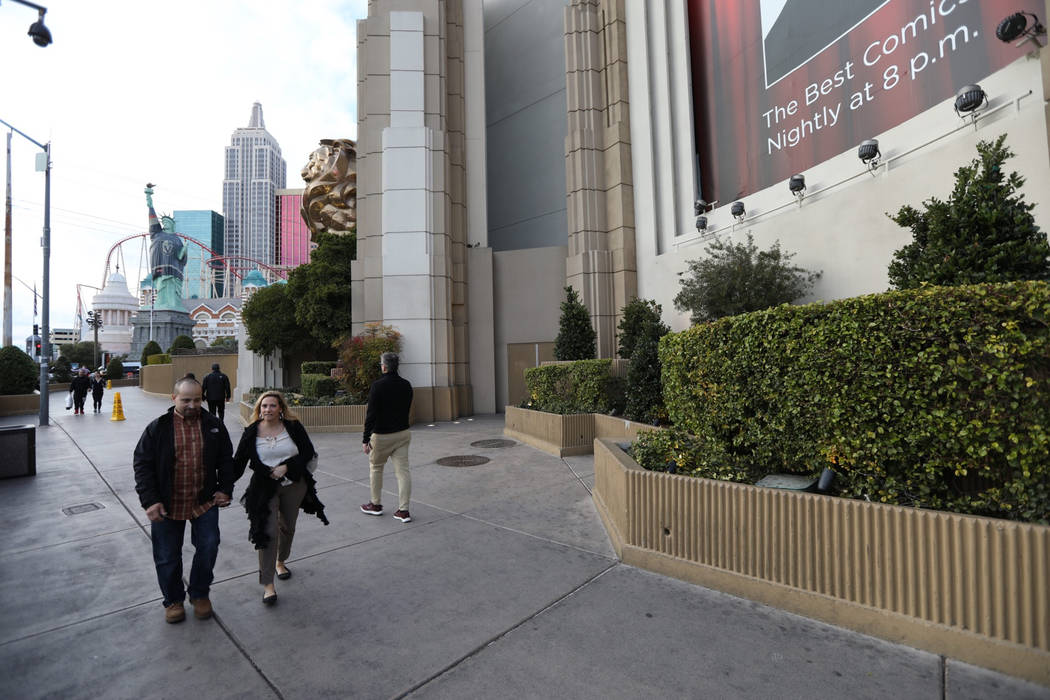 Tropicana Avenue side of MGM Grand seen Wednesday, Jan. 16, 2019. Todd Prince/Las Vegas Review-Journal