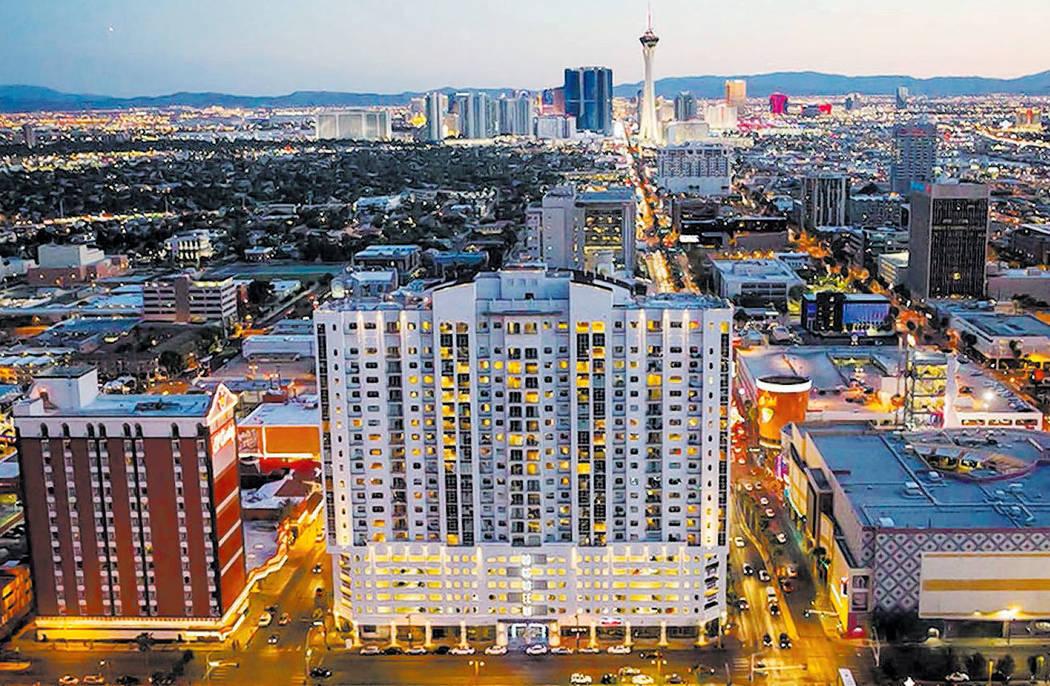 The Ogden in downtown Las Vegas. (Las Vegas Review-Journal)