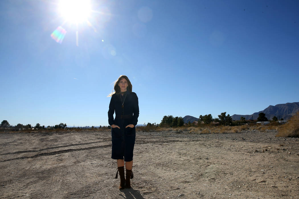 CEO Michele Goldman at the site of what will be Nevada's first Green House Project nursing home, The Villas at Centennial Hills at North Fort Apache Road and West Tropical Parkway in Las Vegas, We ...