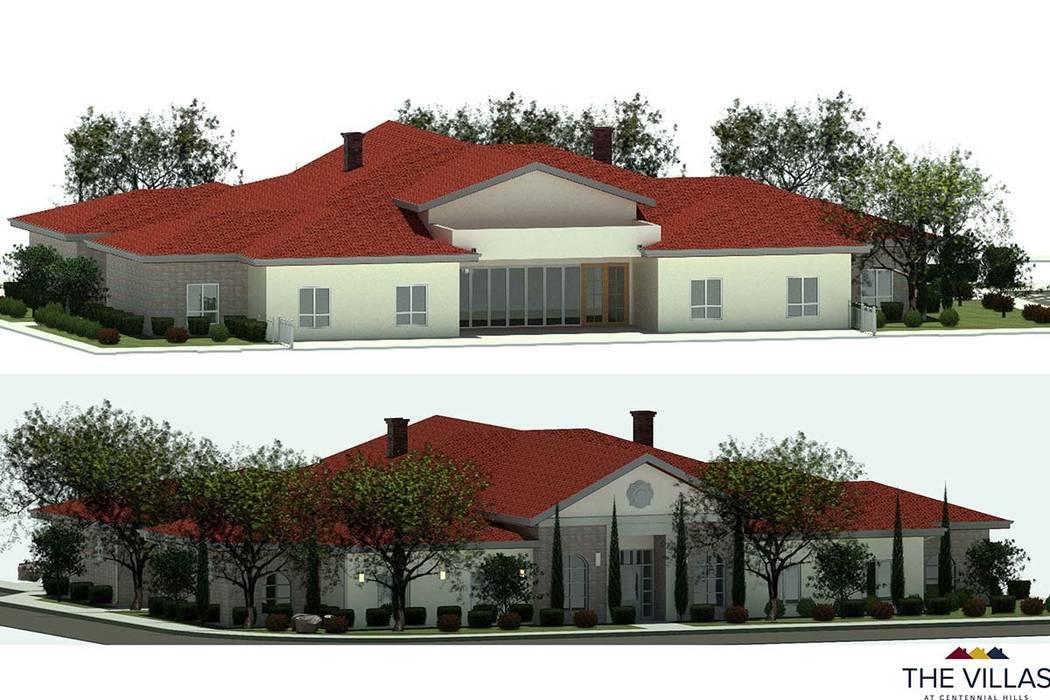 Rendering of the Villas at Centennial Hills. (Michele Goldman)