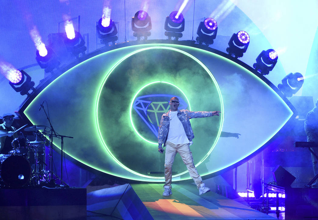 Bad Bunny performs at the Latin Grammy Awards on Thursday, Nov. 15, 2018, at the MGM Grand Garden Arena in Las Vegas. (Photo by Chris Pizzello/Invision/AP)