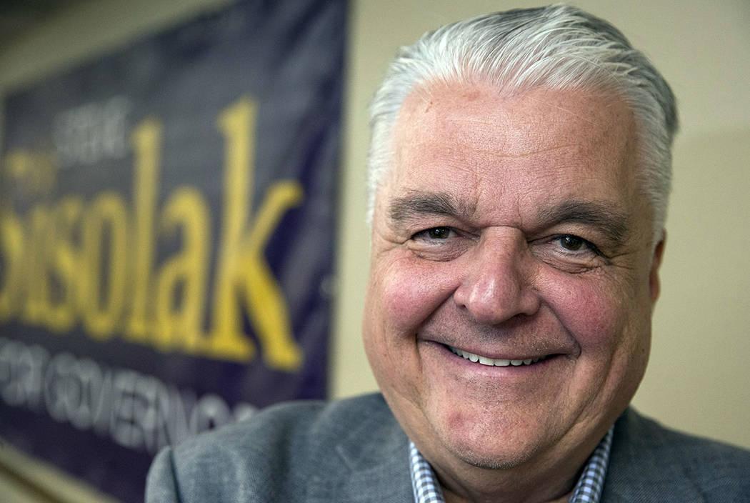 Gov. Steve Sisolak. (Richard Brian Las Vegas Review-Journal @vegasphotograph)