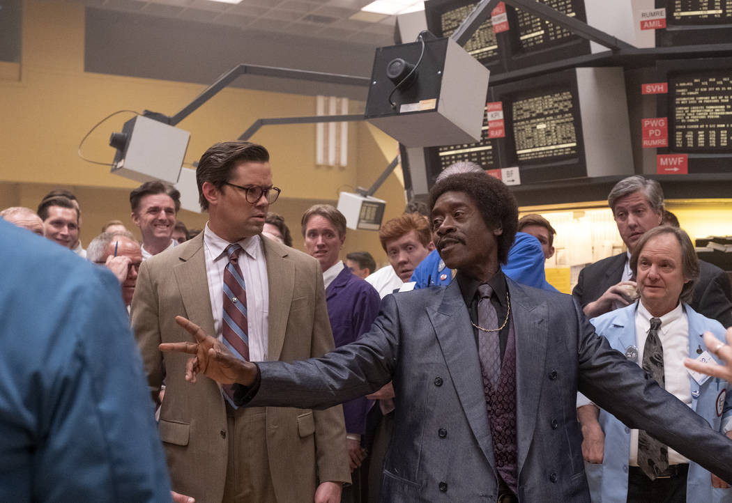 """Andrew Ranells as Blair Pfaff and Don Cheadle as Maurice Monroe in BLACK MONDAY (Episode 1, """"365"""") (Erin Simkin/SHOWTIME)"""