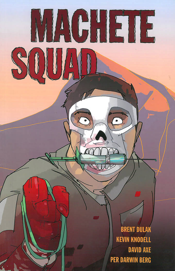 Cover from Machete Squad written by Brent Dulak, Kevin Knodell, David Axe, Illustrated by Per Darwin Berg
