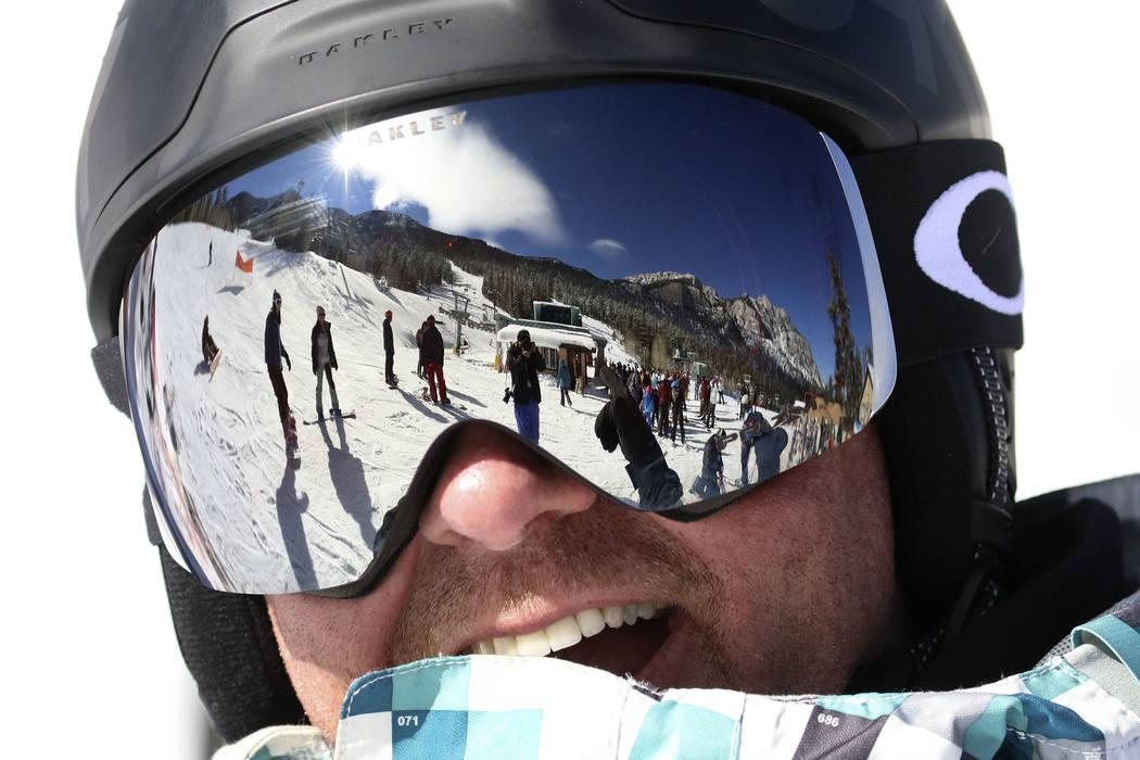 Nels Bloyer of Las Vegas takes a break after skiing at Lee Canyon on Friday, Jan. 18, 2019. Bizuayehu Tesfaye/Las Vegas Review-Journal @bizutesfaye