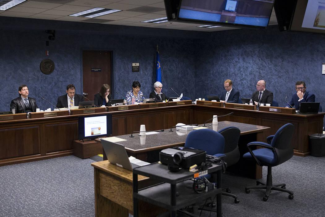 A Nevada State Public Charter School Authority board meeting at the Grant Sawyer State Office Building in Las Vegas, Jan. 26, 2018. (Erik Verduzco Las Vegas Review-Journal @Erik_Verduzco)