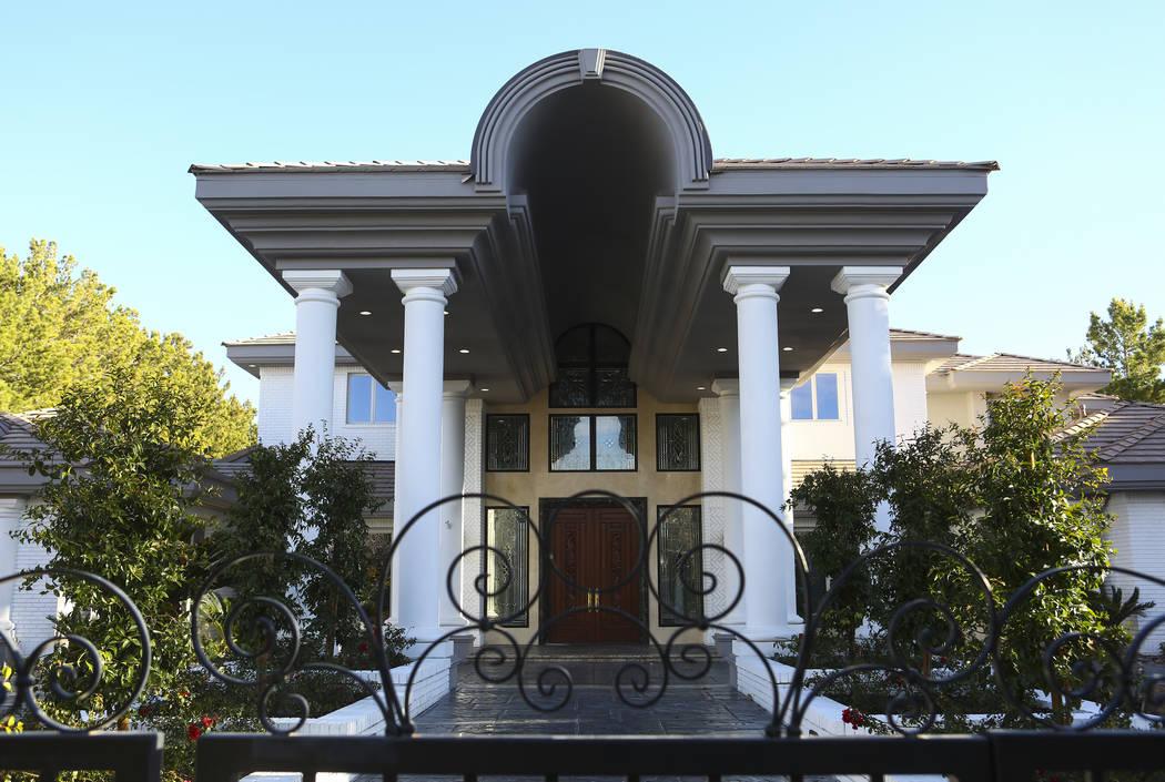 A home at 9009 Greensboro Lane in the Tournament Hills neighborhood in Las Vegas on Friday, Jan. 18, 2019. Chase Stevens Las Vegas Review-Journal @csstevensphoto