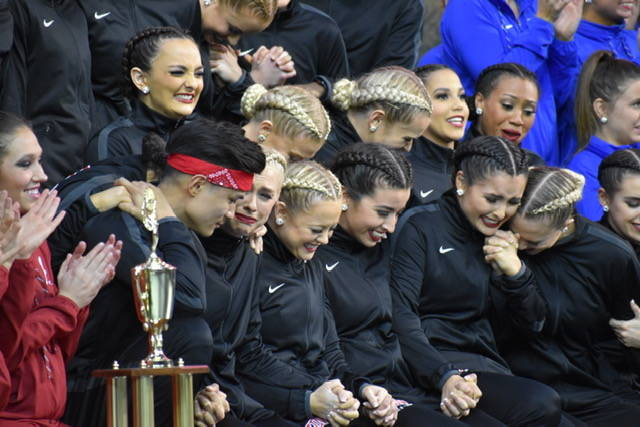The Rebel Girls & Company dance team performs at the 2019 College Dance National Championships at Walt Disney World Resort in Orlando, Florida. The Rebel Girls defended their titles in the Game Da ...
