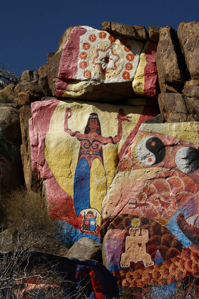 "Roy Purcell painted the murals, titled ""The Journey: Images From an Inward Search for Self,"" in 1966. (Deborah Wall/Las Vegas Review-Journal)"