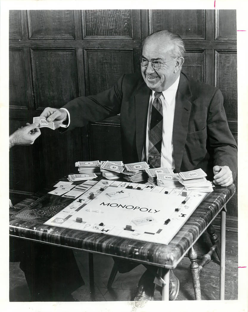 """Charles B. Darrow, 72, is seen in an undated photo after inventing a version of the game """"Monopoly"""" that he sold to Parker Brothers. (Courtesy)"""