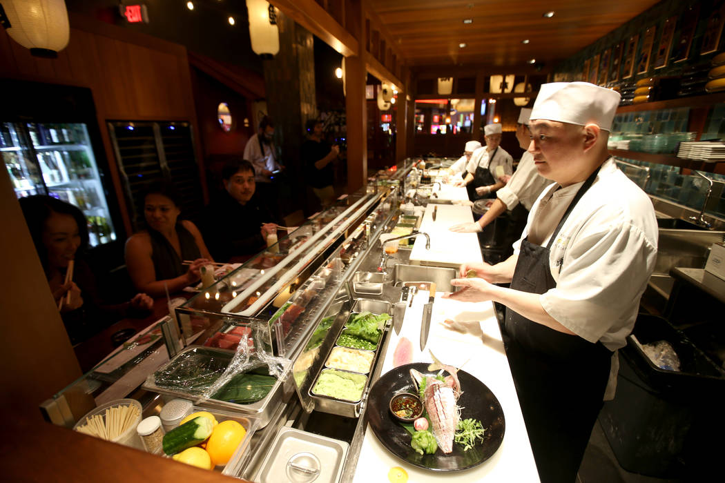 Executive Sushi Chef Setsuji Mitsui at Blue Ribbon Sushi Bar & Grill at Red Rock Resort in Las Vegas Friday, Jan. 18, 2019. (K.M. Cannon/Las Vegas Review-Journal) @KMCannonPhoto
