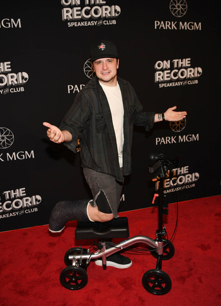 Actor Josh Hutcherson arrives at the grand opening celebration of On The Record at Park MGM on January 19, 2019 in Las Vegas. (Photo by Denise Truscello/Getty Images)