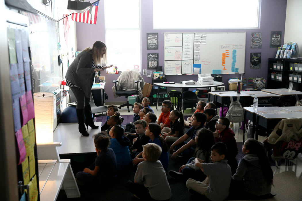 Cassandra Brownell teaches second grade at Mater Academy Mountain Vista charter school in Las Vegas Wednesday, Jan. 16, 2019. K.M. Cannon Las Vegas Review-Journal @KMCannonPhoto