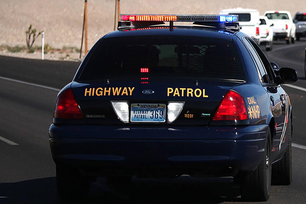 A Nevada Highway Patrol car (Las Vegas Review-Journal)