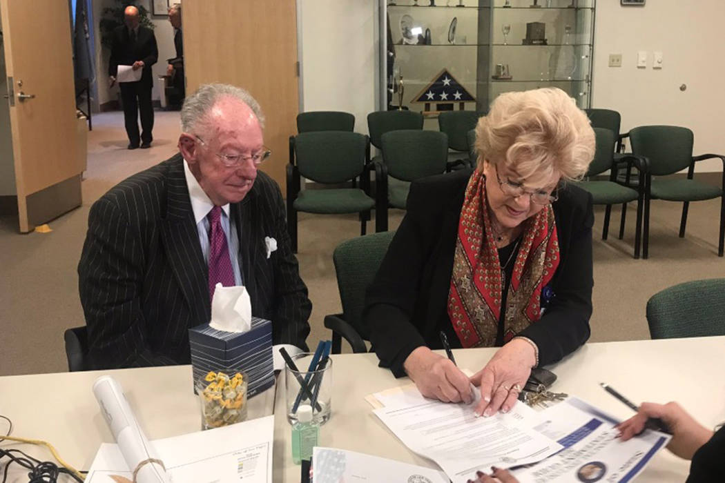 Las Vegas Mayor Carolyn Goodman on Tuesday filed paperwork to run for re-election, seeking her third and final term as the figurehead of the seven-member body during the first day of the candidate ...