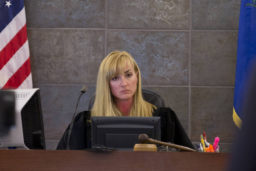 Judge Stefany A. Miley during Thomas Randolph's trial at the Regional Justice Center in Las Vegas, Thursday, June 29, 2017. (Elizabeth Brumley/Las Vegas Review-Journal)