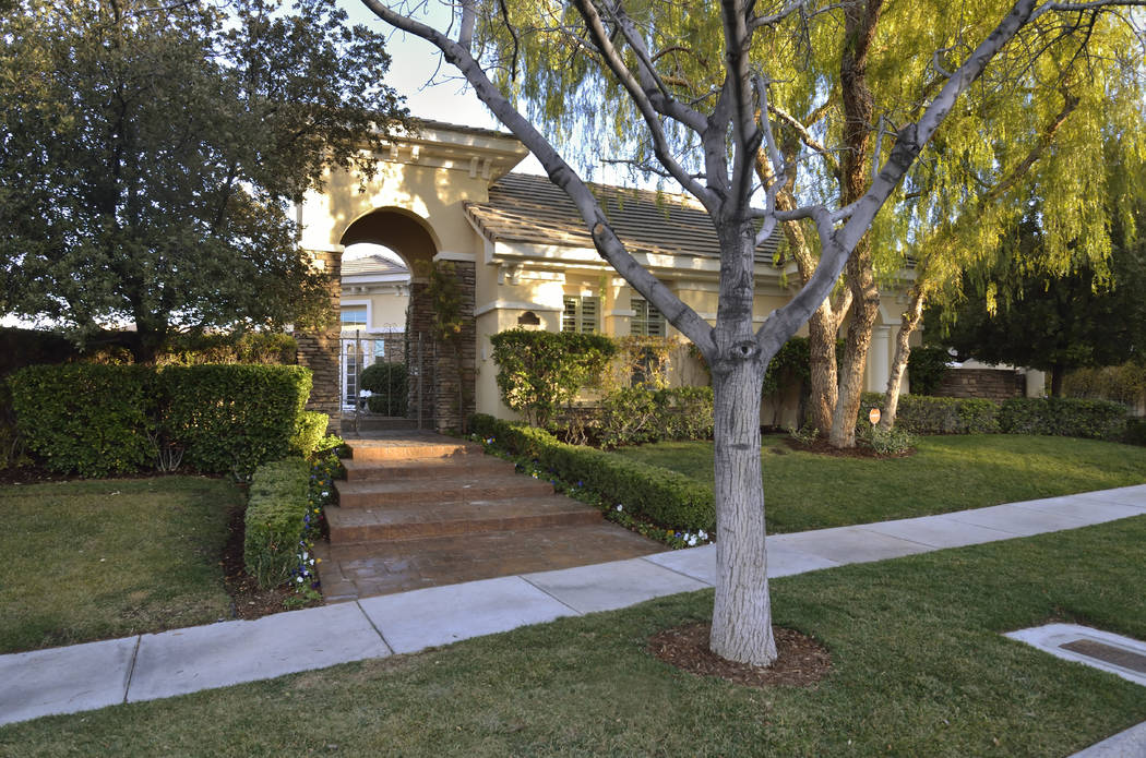 Golden Knights forward Jonathan Marchessault purchased this two-story, 6,600-square-foot house in Summerlin last March. (Bill Hughes Real Estate Millions)
