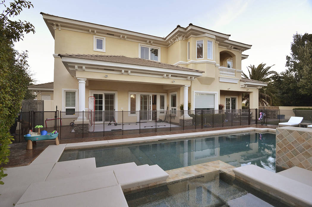 Golden Knights forward Jonathan Marchessault and his family moved into this Summerlin home in March. (Bill Hughes Real Estate Millions)