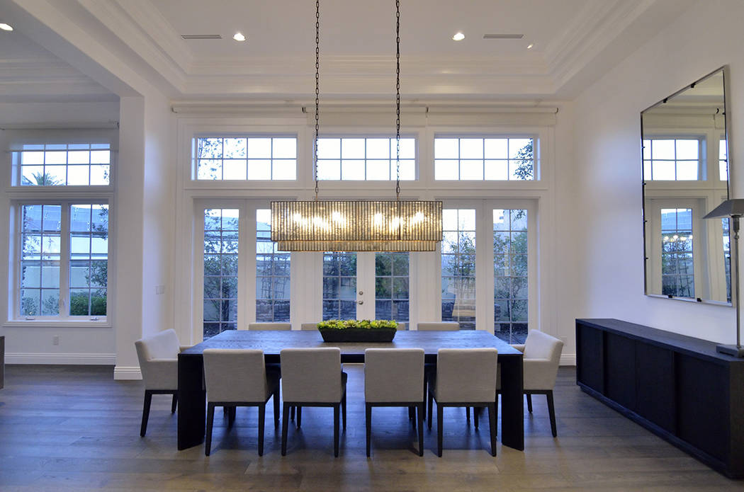 The home's formal dining room represents the modern, but comfortable feel of the home. (Bill Hughes Real Estate Millions)