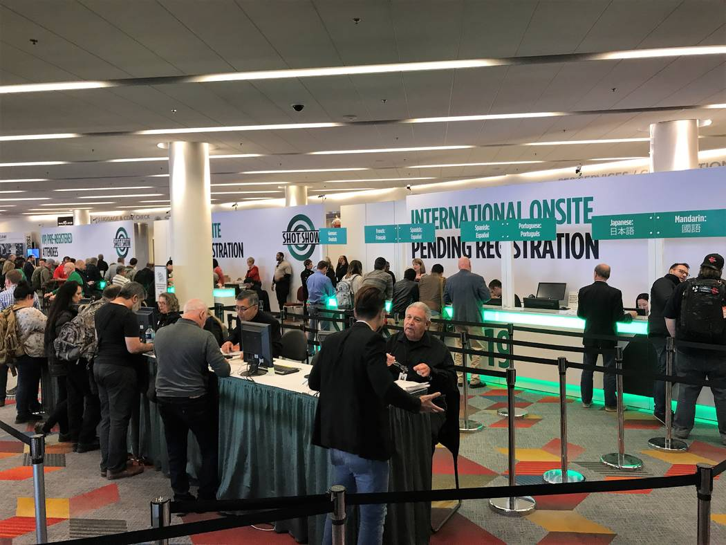 The 41st edition of the Shooting, Hunting and Outdoor Trade (SHOT) Show opened Tuesday at the Sands Expo Center in Las Vegas. This is the 21st time the show has been held in Las Vegas and is an in ...