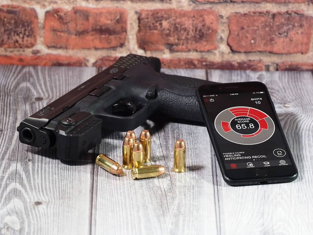 Recreational shooters looking to improve their scores can get a little high-the help from MantisX, a system that combines a motion sensor with an app to map the movement of a firearms muzzle durin ...