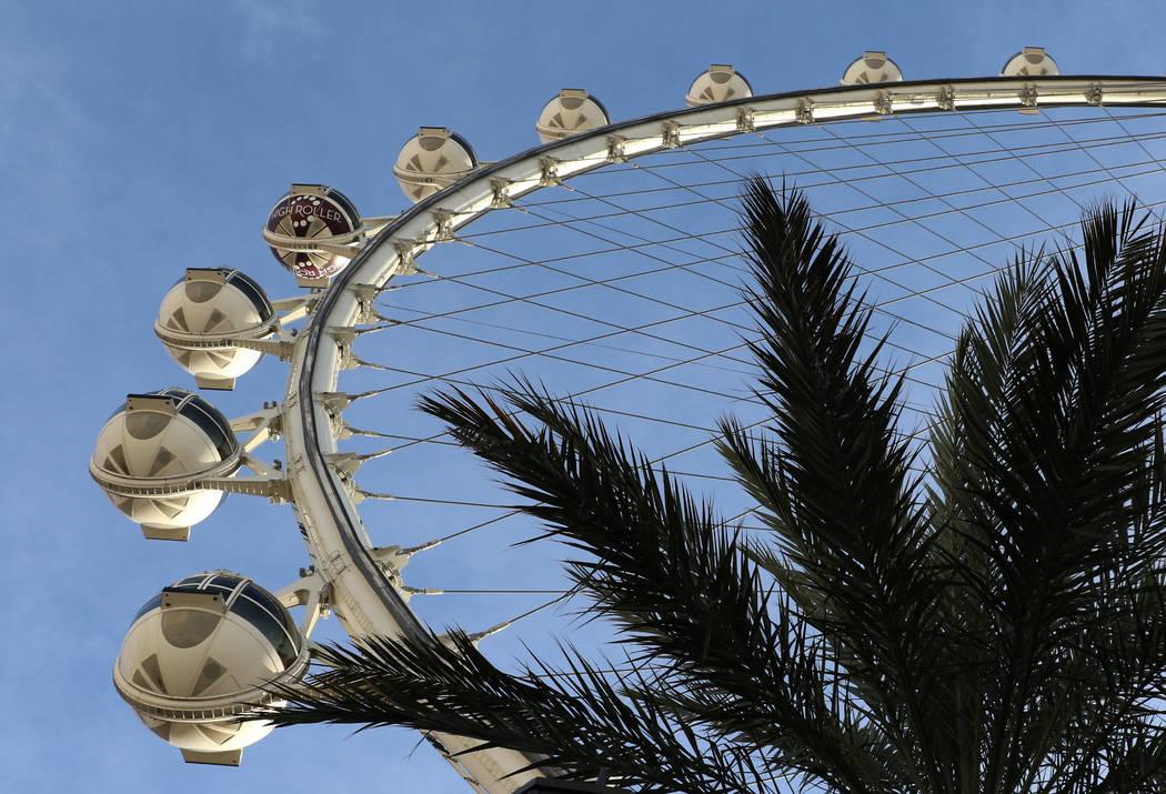 The Las Vegas High Roller on the Las Vegas Strip. (Bizuayehu Tesfaye/Las Vegas Review-Journal) @bizutesfaye