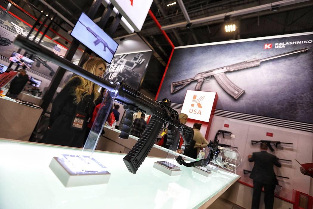 The Kalashnikov USA booth at SHOT Show on Wednesday, Jan. 23, 2019. Todd Prince/Las Vegas Review-Journal