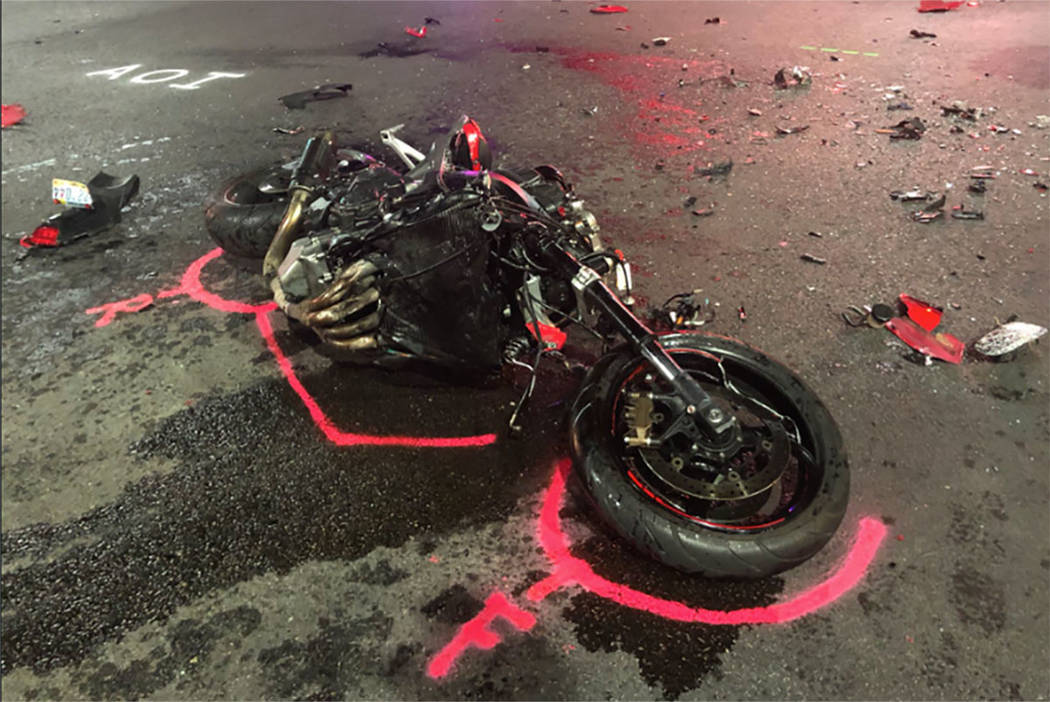 NHP says Las Vegas officer, motorcyclist at fault in fatal
