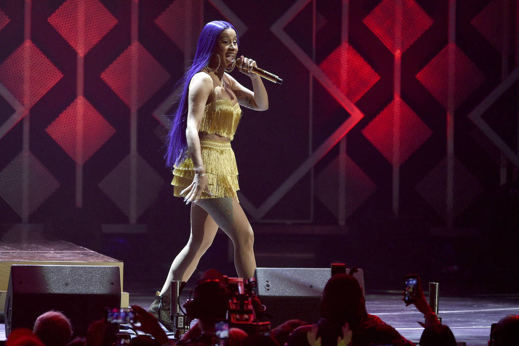 Cardi B performs at Jingle Ball on Friday, Nov. 30, 2018, at The Forum in Inglewood, Calif. The singer will make her first residency at a Las Vegas club, at the Palms. (Chris Pizzello/Invision/AP)