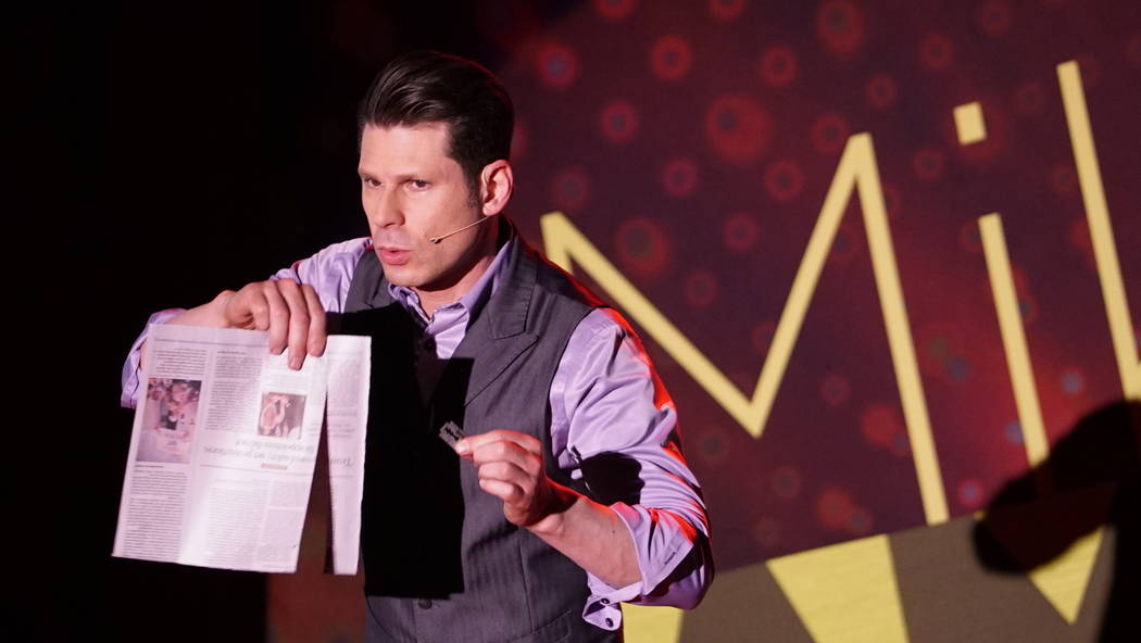 Mike Hammer is offering comped tickets to his comedy-magic show at Four Queens for furloughed government workers. (Ajay Johnson)