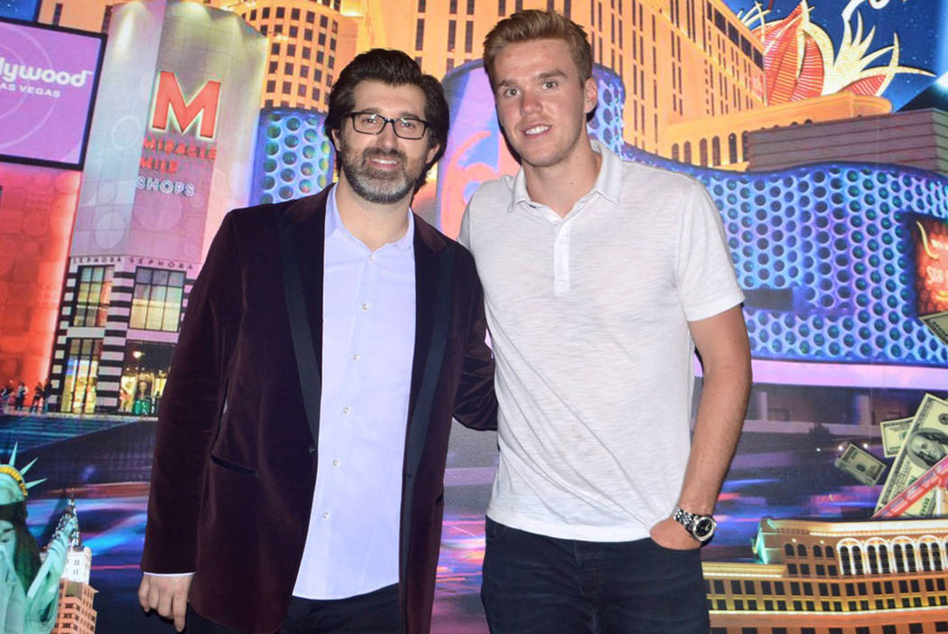 V Theater at Miracle Mile Shops at Planet Hollywood headliner Marc Savard is shown with Edmonton Oilers stars Connor McDavid after Savard's show on Tuesday, June 21, 2017. (V Theater)