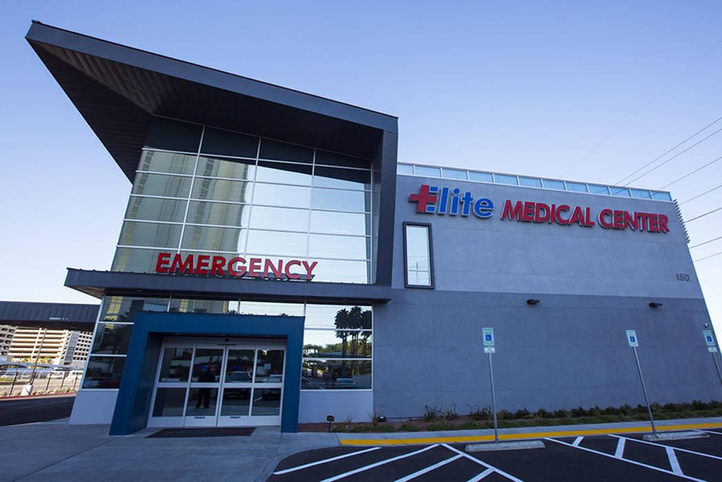 Elite Medical Center at 150 E. Harmon Ave. in Las Vegas on Friday, Jan. 25, 2019. (Chase Stevens Las Vegas Review-Journal @csstevensphoto)