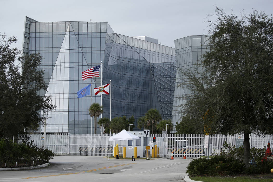 A general view of the FBI field office in Miramar, Fla., Friday, Jan. 25, 2019, where Roger Stone was taken after the pre-dawn arrest at his home in Fort Lauderdale. Stone, a confidant of Presiden ...